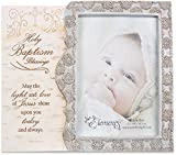 Pavilion Gift Company Elements Catholic Christian Holy Baptism Gift Picture Frame, 4'' x 6''