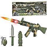 """23"""" Combat Force Machine Gun Military Playset"""