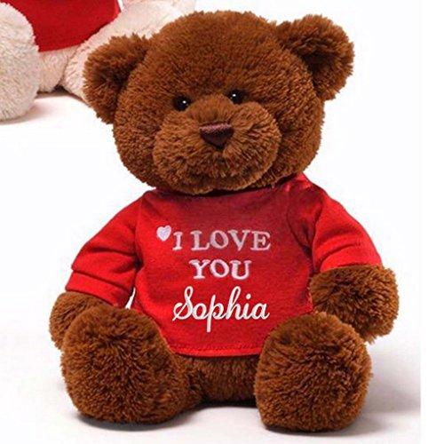 (Personalized I Love You Teddy Bear - 12
