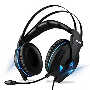 Klim IMPACT - USB Gaming Headset - 7.1 Surround Sound + Noise Cancelling - High definition Audio + Strong bass - Gamer Video Games Headphones Audifonos with Microphone for PC PS4
