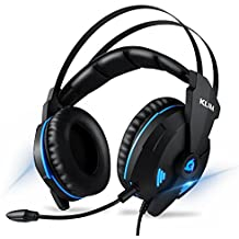 Klim Impact - USB Gaming Headset - 7.1 Surround Sound + Noise Cancelling - High Definition Audio + Strong Bass - Video Games Headphones Audifonos with Microphone for PC Gamer PS4 - Volume Control
