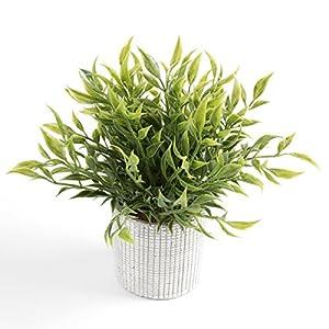Cyrra 8 Inch high Bathroom Vanity Decor Ideas Indoor Artificial Grass Plants for Shelf Nandina 3