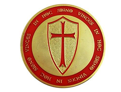 Commemorative Knights Templar Crusade Cross Gold Coin Masonic Exchange ()