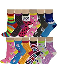 12 Pairs Pack Kids Girls Colorful Creative Fun Novelty...
