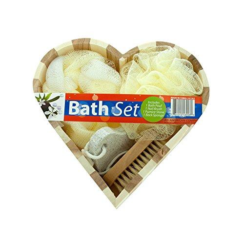 Boxed Bath Set (Kole Imports OC203 Heart Boxed Bath Gift Set)