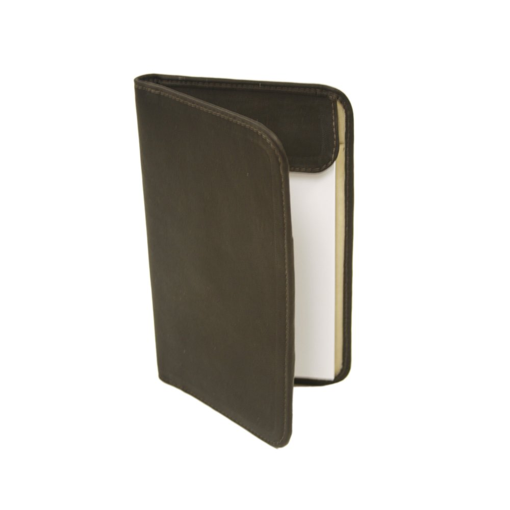 Piel Leather Mini Notepad Holder, Chocolate, One Size