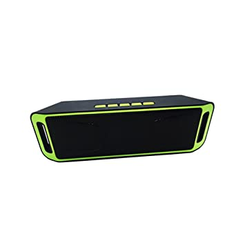 WANG Altavoz Bluetooth Altavoz inalámbrico Portátil Home Office Mini Ordenador Dual Speaker Subwoofer para automóvil (Color : Green): Amazon.es: Hogar