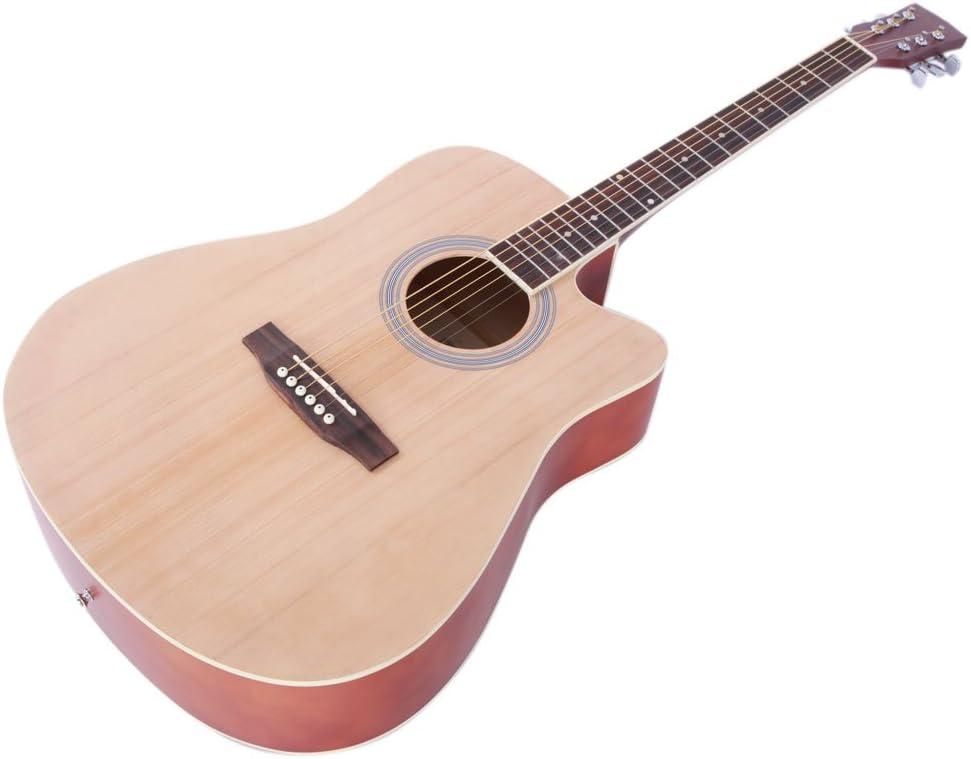 Cadena de acero folk-guitarra con negro Front