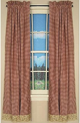 Checker Berry Curtain Panels