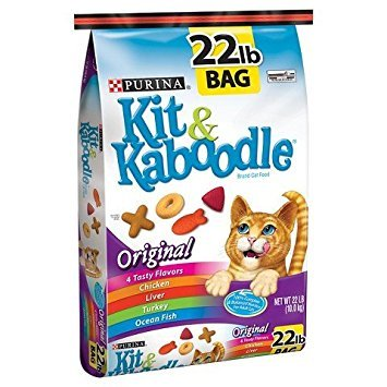 Image of PURINA KIT & KABOODLE CAT FOOD ORIGINAL FLAVOR 22 LB BAG