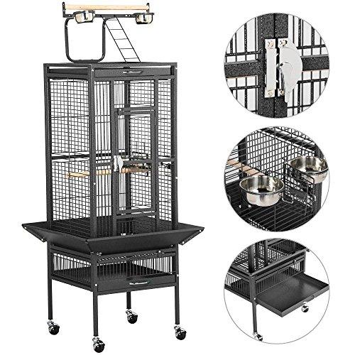 61 black bird cage parrot cages cockatiel