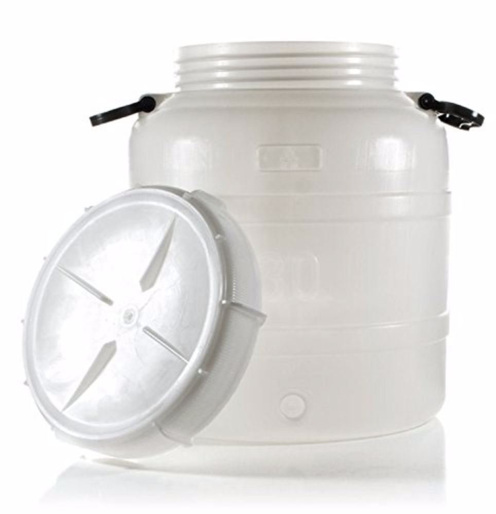 Home Brew Ohio Plastic Fermenter with Handles (7.9 gal), 30L