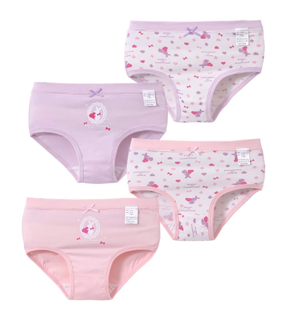 Zegoo Organic Cotton Children Girls Boyshorts Underwear 4 Pack
