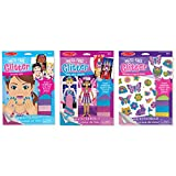 Melissa & Doug Mess-Free Glitter Activities Set: Fashions, Faces, and Friendship