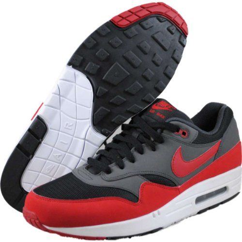 Nike Men's Air Max 1 Essential Trainers BLACK/GYM RED/ANTHRACITE/WHITE