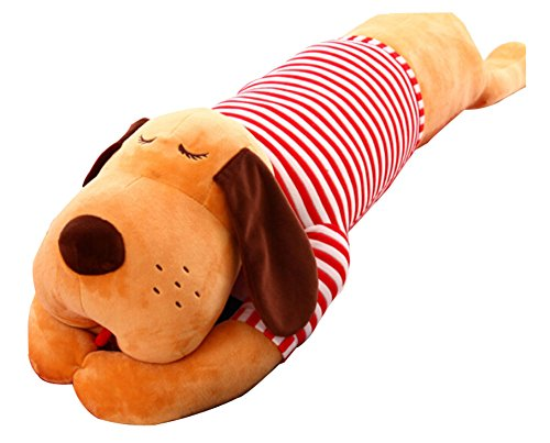 Plush toy dog doll Lovely Doll Sleep Pillow Red White Stripe