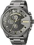 Best Diesel Watches - Diesel Men's Mega Chief Gunmetal IP Chronograph Watch Review