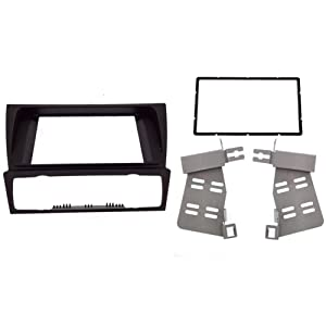 Double 2 Din Fascia for BMW 3 Series E90 E91 E92 E93 2004-2012 Radio DVD GPS Stereo Panel Dash Mount Trim Kit Surrounded Frame 178x100mm