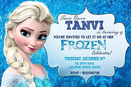 Personalized wow party studio frozen elsa theme birthday party personalized wow party studio frozen elsa theme birthday party invitation cards with birthday boygirl stopboris Images