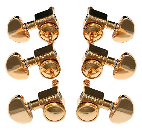 Rotomatic Tuners (Grover Roto-Grip Locking Rotomatic Tuners - 3+3 - Gold)