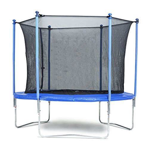 10 FT Trampoline Combo Bounce Jump Safety Enclosure Net W/Spring Pad BestMassage BMS