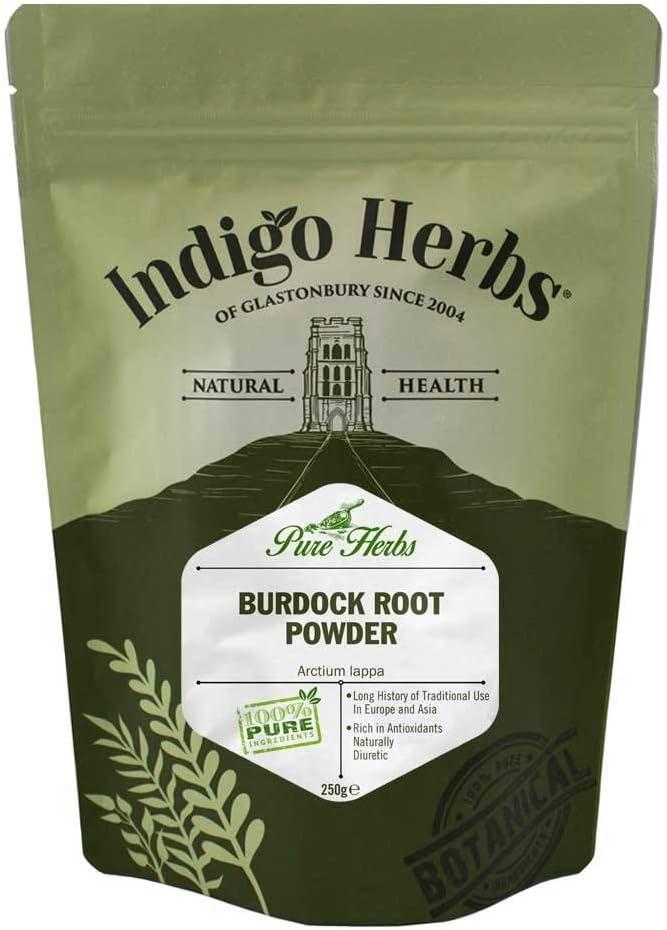 Indigo Herbs Polvo de Raíz de Bardana 250g