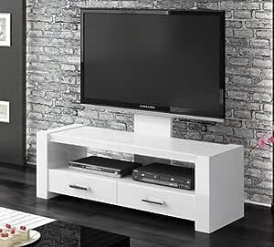 Mueble para TV cómoda del blanco brillante con soporte para televisión: Amazon.es: Hogar