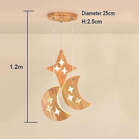ZXZ-GO Lámparas Colgantes LED de Madera Habitación para ...