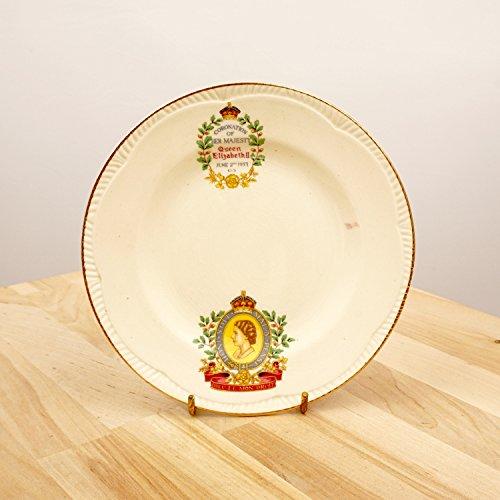 Plate of The Coronation of Her Majesty Queen Elizabeth II || June 2nd 1953 || Fine bone china || Winterton Longton || Made in - Bone China Plates Coalport