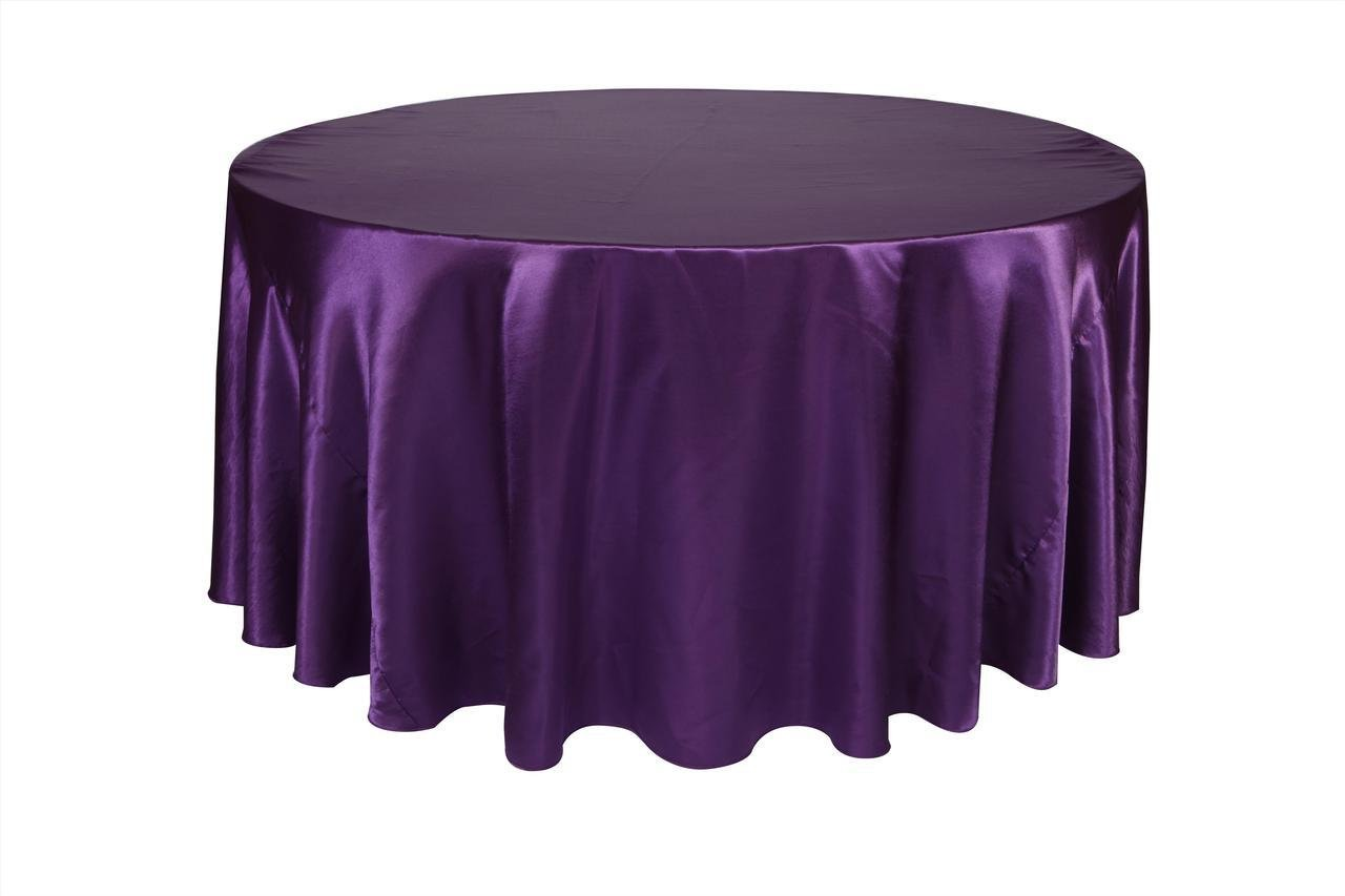 Amazoncom Your Chair Covers 132 inch Round Satin Tablecloths