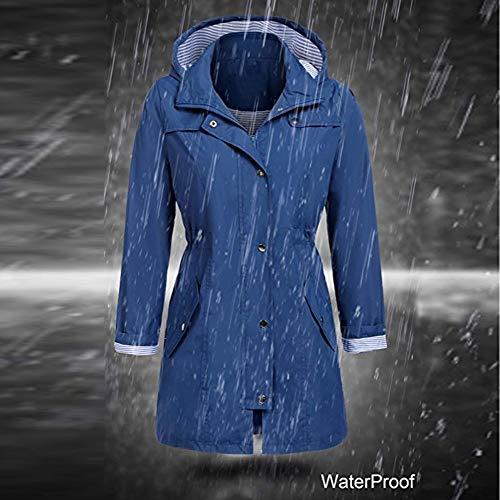 Wanshop Donna Blue Deep Impermeabile Giacca rqwEzpxr