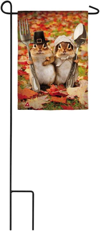 Evergreen Colonial Gothic Satin Garden Flag, 12.5 x 18 inches