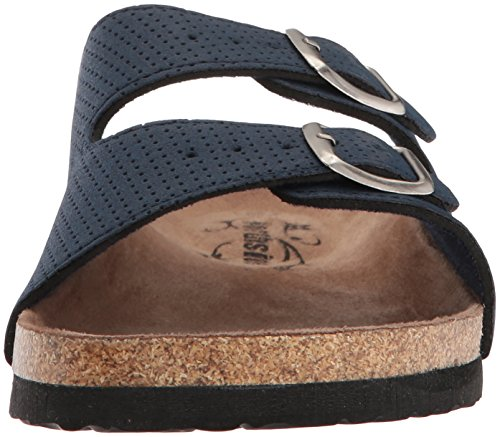 Womens Cork Leather Sandal Mariani Strap Navy Northside 4SRx7qS