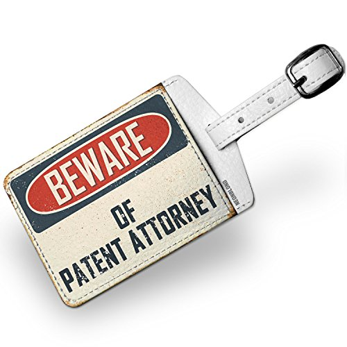 Luggage Tag Beware Of Patent Attorney Vintage Funny Sign - - Luggage Patent Tag