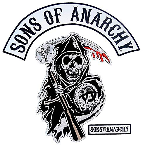 Sons of Anarchy Text and Arched Reaper Logo