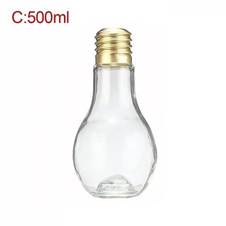 Botella de plástico transparente de Oshide, botella de agua de zumo, botella de bebida