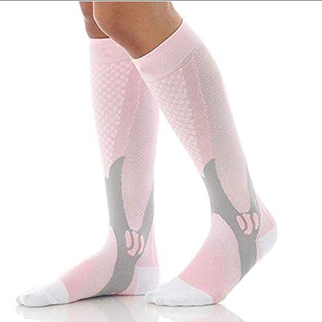 Calcetines de compresión para hombre y mujer, apto para correr, volar, embarazo,