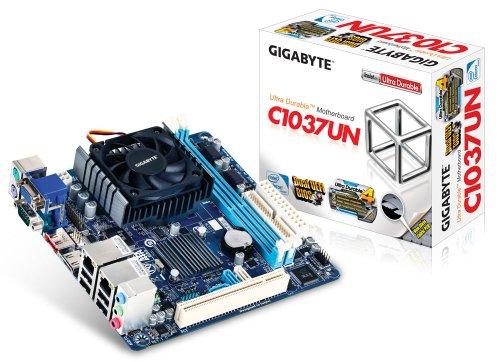 - Gigabyte GA-C1037UN Combo NM70 CELERON C1037 MAX-16GB DDR3 MITX PCIE VID