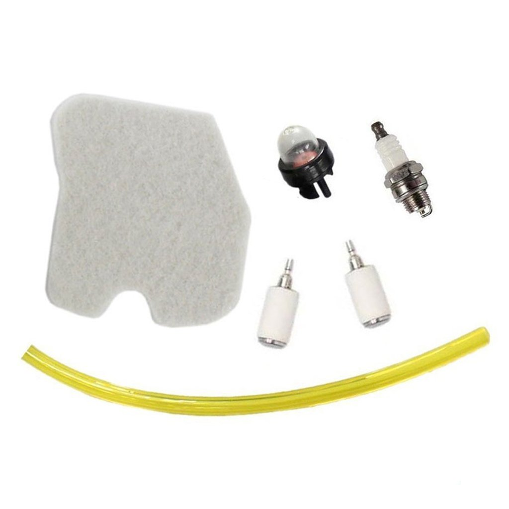HURI Air Filter with Fuel Line Fuel Filter Spark Plug Primer Bulb TuneUp Kit for Husqvarna 235 235E 240 240E Chainsaw HSGD00536