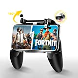 Fiyapoo Mobile Game Controller for PUBG/Fortnite, L1R1 Trigger Gamepad Compatible for iPhone iOS Android Phone, Sensitive Shoot and Aim Joysticks Gaming Grip for PUBG/Rules of Survival/Knives Out etc