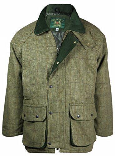 Countrywear par Wholesale Workwear - Veste Homme Derby Tweed Respirant  Rembourré Matelassé Imperméable Pêche Chasse Ferme Laine Neuf - Vert Olive  Clair, ... 2bb5bc73462e