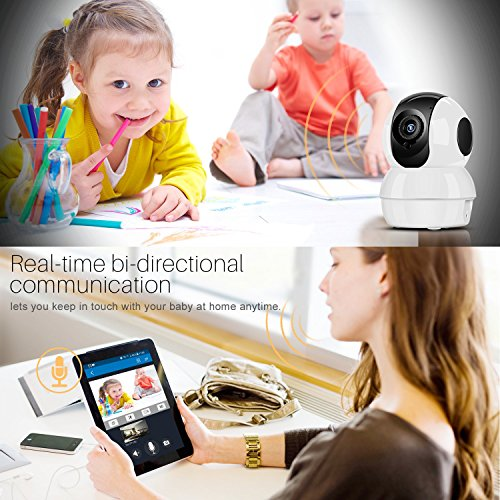 Hommie HD 1080P Wireless IP Camera | Night Vision with Micro SD Card Slot | 2.4GHz WiFi Home Security Cam for Pet Kids Babysitter Monitor ...