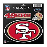"NFL San Francisco 49ers 37961013 Vinyl Magnet, 11"" x 11"""