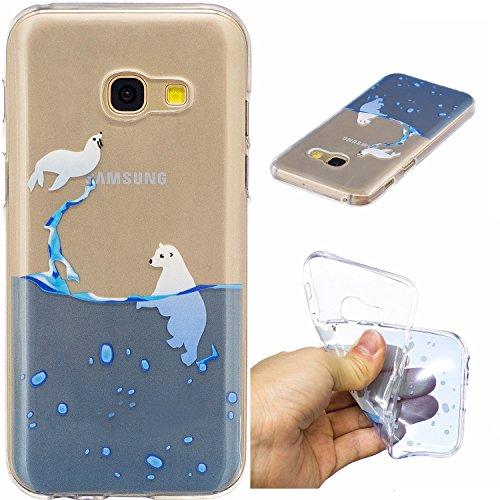 Funda Galaxy A5 2017, CaseLover Carcasa para Samsung Galaxy A5 2017 A520 (5.2 Pulgadas) Ultra Delgado Transparente Suave Silicona TPU Flexible Gel Protectora Cubierta Resistente a los Arañazos Tapa Li Oceano