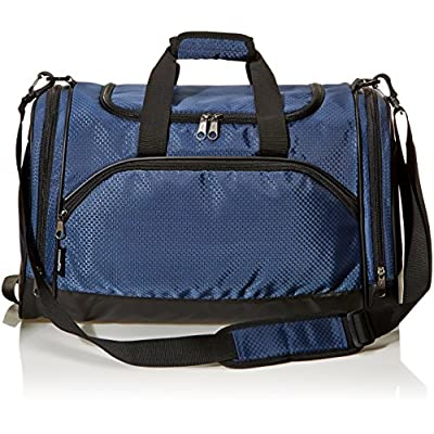 Amazon Basics Small Lightweight Durable Sports Duffel Gym and Overnight Travel Bag – Navy Blue