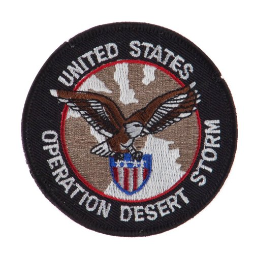 War and Operation Embroidered Military Patch - Desert Storm 3 OSFM