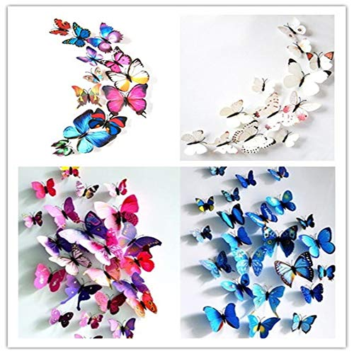 12 Pieces 3D Butterfly Design Decoration Art Wall Stickers Room Magnetic Home Decor (Multicolor) by Caslia (Image #2)