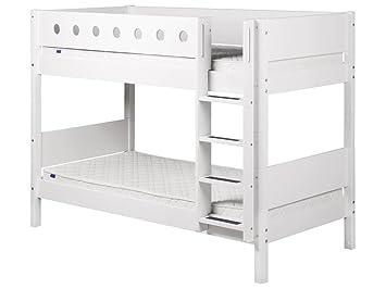 Etagenbett Flexa Absturzsicherung : Flexa white etagenbett 90x200cm mit lattenrost und gerader leiter 80
