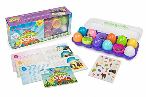 Resurrection Eggs with Booklet and Stickers -Tells Full Story of Easter