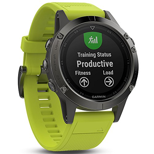 Price comparison product image Garmin Fenix 5 - Slate Gray with Amp Yellow Band
